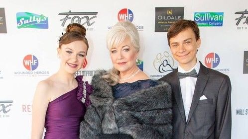 March, 30, 2019 At OILDALE Wold Premiere with children, teen actors, KristiLynn Grace and Mikey Effie.