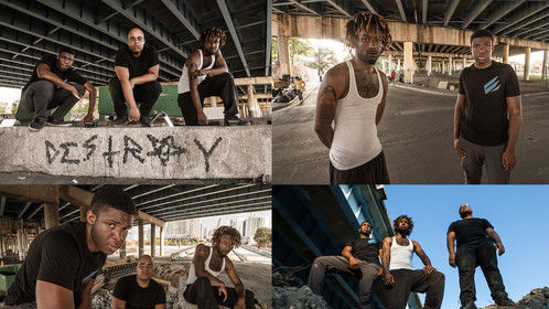 """My photography of """"Dwight Ricky and Tristan"""" in overtown Miami"""