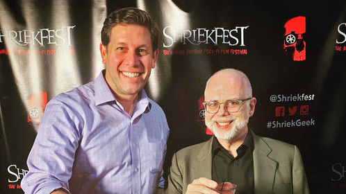Director and Producer at closing night of Shriekfest 2018 in LA.