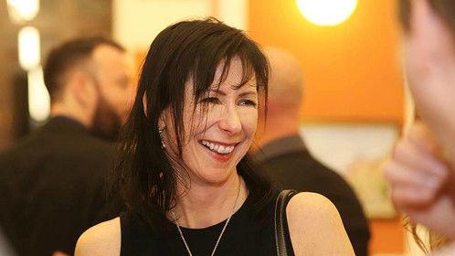 Fiona Ashe at the closing gala of the Cluj Film Festival in Romania, 2015.