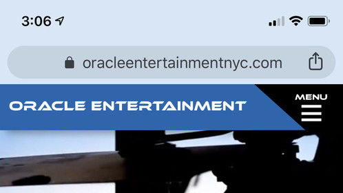 Another recent web design can be found at: http://www.oracleentertainmentnyc.com