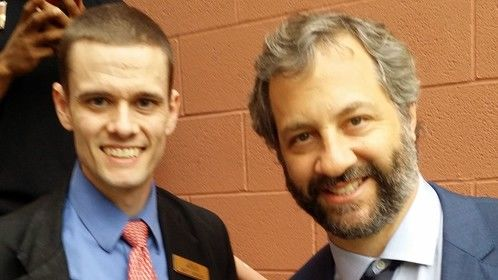 Judd Apatow and I at the Trainwreck premier.