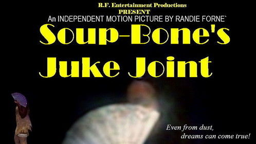"""""""Soup-Bone's Juke Joint"""" is set be a permanent mark in African-American theater and film making, and is destined to be one of the most memorable, and a must-see classic!  1948 is the backdrop of this musical dramedy.  The extraordinary journey begins when young Soup-bone and his two side-kicks, dare to dream with the determination of making something out of nothing!  In the era of racial adversity; the soul-stirring, foot-tapping music is the magical fabric that keeps this small, African-American culture alive and well. """"Soup-Bone's Juke Joint"""" has the bitter-sweet nostalgia that collides with modern day, eye-opening twists!  This  independent  full- feature motion picture, is adapted from the  theater production  - """"Soup-Bone's Juke Joint"""" and contains all the elements of entertainment, from beginning to end."""