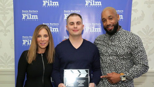 Winner of Best Documentary at 2019 Santa Barbara Film Festival. Pictured left is producer Colleen Dominguez. Pictured right is producer Omar Michaud.