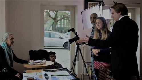On set, directing 'Someone Understands' - 2017
