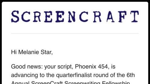 "Incredibly proud of my action/drama feature script, ""Phoenix 454"", which was selected as a Quarter Finalist in the distinguished ScreenCraft Screenwriting Fellowship. I'm looking to connect with Producers and Executive Producers who can help get Phoenix 454 made into the blockbuster that I wrote it to be! ;)"