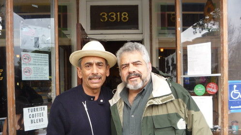 With writer Alejandro Murguia, who wrote the original short story which inspired the film The Other Barrio.