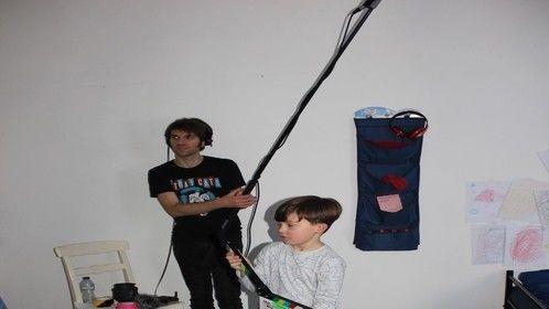 Kal taking Lights, Camera, Action!