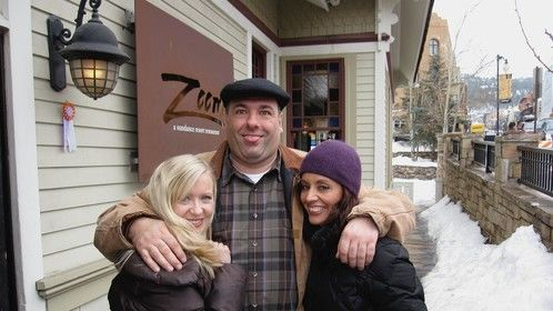 With the late, the great James Gandolfini, and Diana Tenes at Sundance.