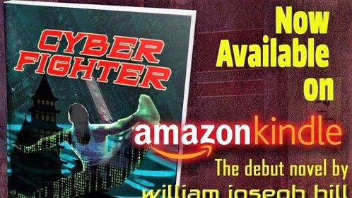 """Excited to announce: My debut novel """"Cyber Fighter"""" is now available on Amazon https://lnkd.in/geuYwdN in both Kindle and paperback!  It's a Sci-Fi Martial Arts Adventure with a Comedic Kick!  The story is adapted from my feature screenplay.  Thank you to my my beautiful & supportive wife Pamela Hill for all her love and support--she was the first voice who read my book out loud and her amazing PR skills! Thank you to Christina Gray for insightful work as my editor! Thank you to my family and friends for all your support!"""