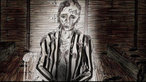 "Story Board ""175"" Lina (latrines concentration camp)"