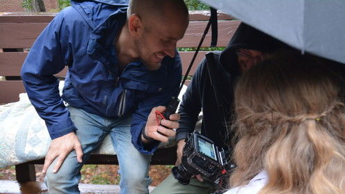 Filming The Troubles with cinematographer Joey Ciccoline and actress Emily Marie Palmer in Atlanta, GA.