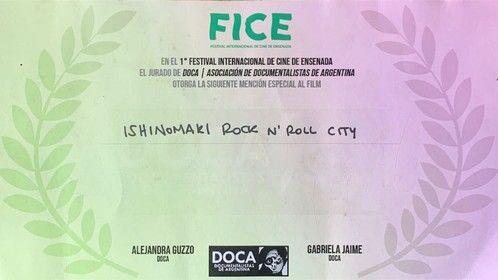 """Ishinomaki rock 'n roll city""  Award best film at Festival Internacional de Ensenada"