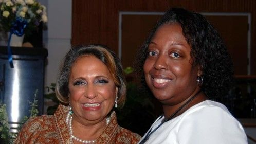 With Cathy Hughes