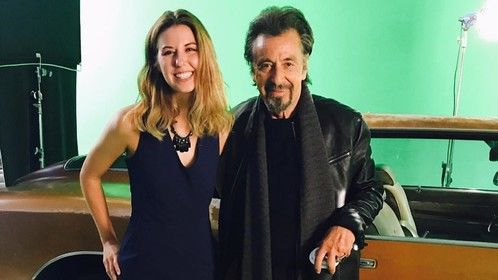 "On the ""Hangman"" set with Al Pacino"