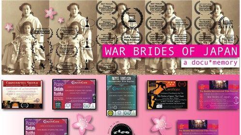 'War Brides of Japan, a docu*memory' laurels from various film festivals.  #warbridesofjapan www.warbridesofjapan.com