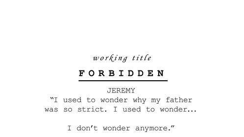 Forbidden (2020) In Development