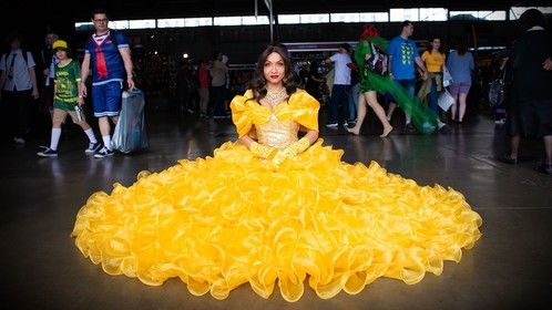 Disney's Belle from beauty & The Beast, but mine is recreated to become a showgirl version