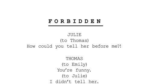 Forbidden (2020) First Draft in Development