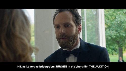 Niklas Leifert as bridegroom JÜRGEN in the short film THE AUDITION