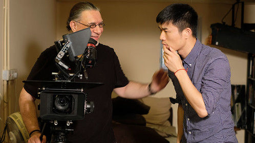 """With director Popo Fan - on the set of experimental film """"The Ghost of Sister Ping"""" (Hong Kong 2017)"""