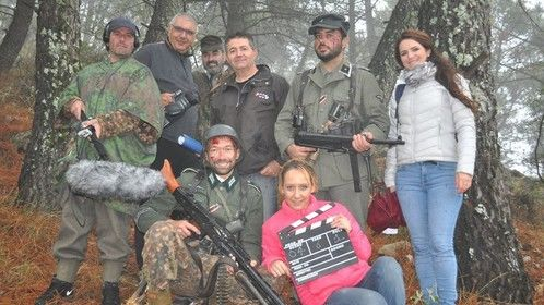 On set of the Woods Encounters in Spain