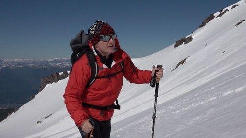 Larry Laverty climbing California's Mt. Shasta