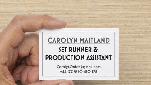 Business Card - Production assistant / Runner