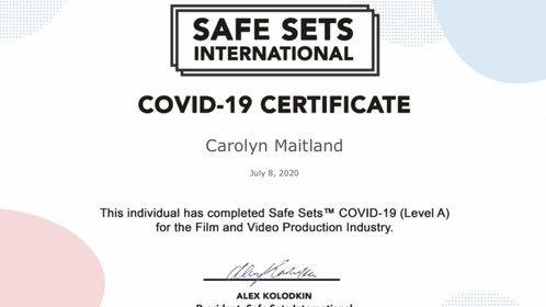 #SafeSetsCovid19levelACertificate