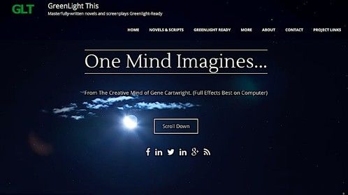 GreenLightThis.com website:  a collection of he works of Gene Cartwright with captivating audiovisual presentation.
