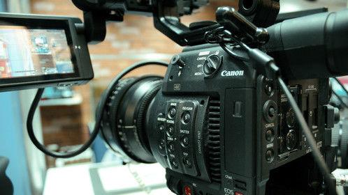 Canon C200 cinema camera.Test at SET Expo in Sao Paulo.