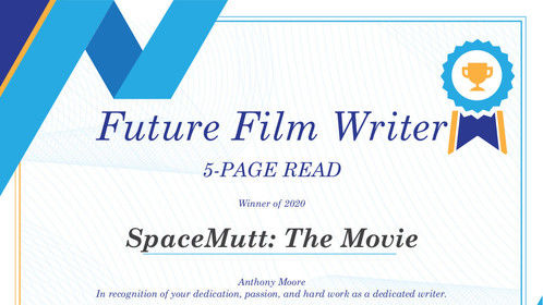 Future Film Writer, 5-Page Read, Winner 2020