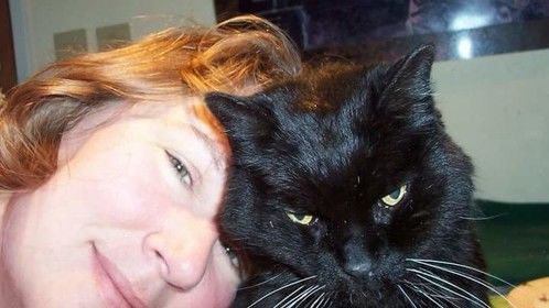 Me and my old man, Ursus. He was 19 when this was taken!
