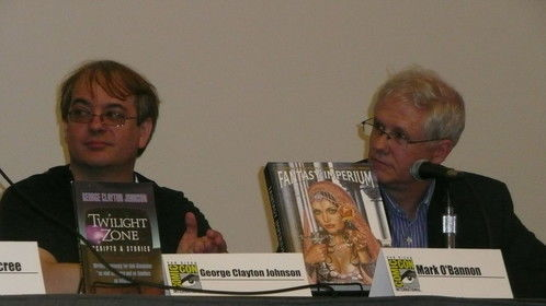 Mark O'Bannon and John Truby at Comic Con International.