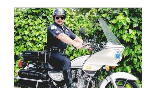 Real police motorcycle & real police uniforms
