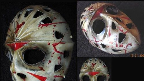 Friday the 13th paintjob on street hockey mask