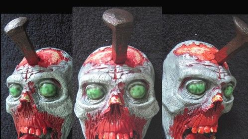 Head Hook ™ Zombie blue