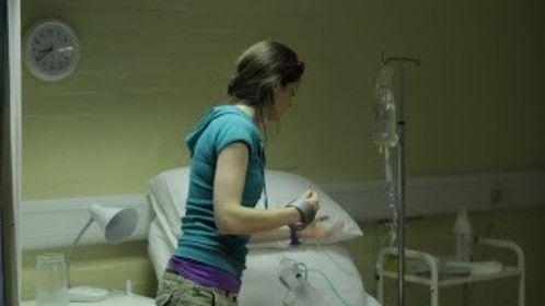 MA Film, me working on the dressing, hospital room