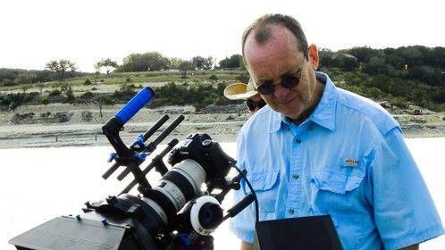 John Dyer Directo of Photography on Location Medina Lake, TX