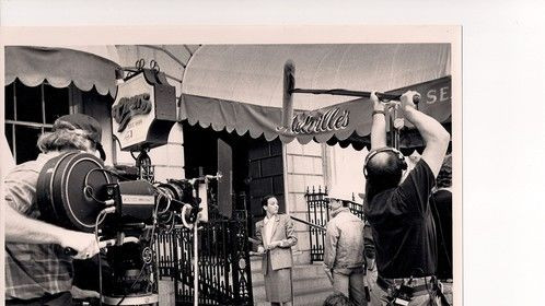 On the set of Cheers .