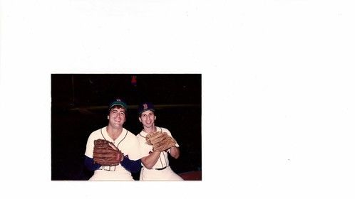 On the set of Field of Dreams at Fenway with John Fiore.