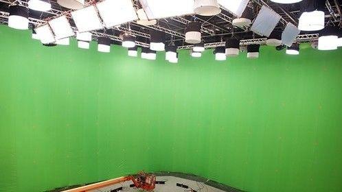 "Digital green screen for latest ""Judge Dredd"""