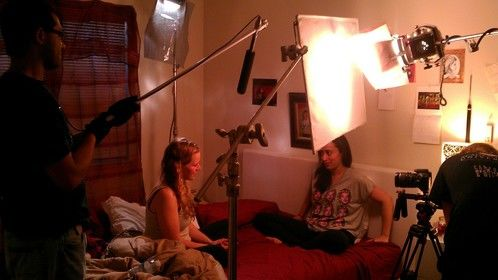 Directing actresses Rebecca Roffino & Noorah Al Hakimi with producer Tyler J. Eldridge
