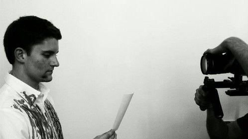 Directing actor & screen writer Connor Scott with cinematographer Zack Sainz