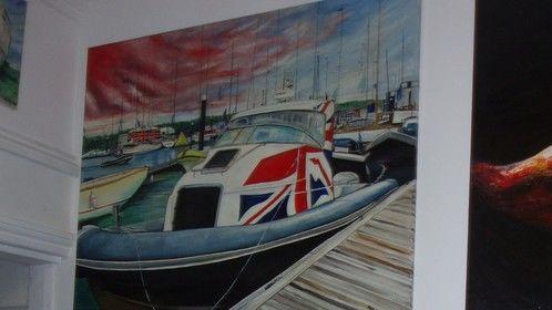Protector Union Jack RIB painting at green Buoy arts
