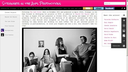 Stranger in the Alps Productions new website!