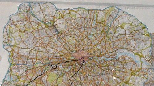 Nicks real time route in film inside M25 motorway