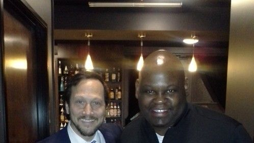 Me and Comic and movie star Rob Schneider