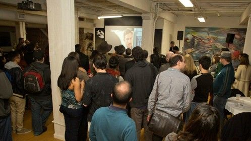 Showing the Test Scene at the Bay Area Film Mixer
