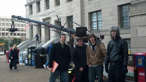 Directing with a jib crane